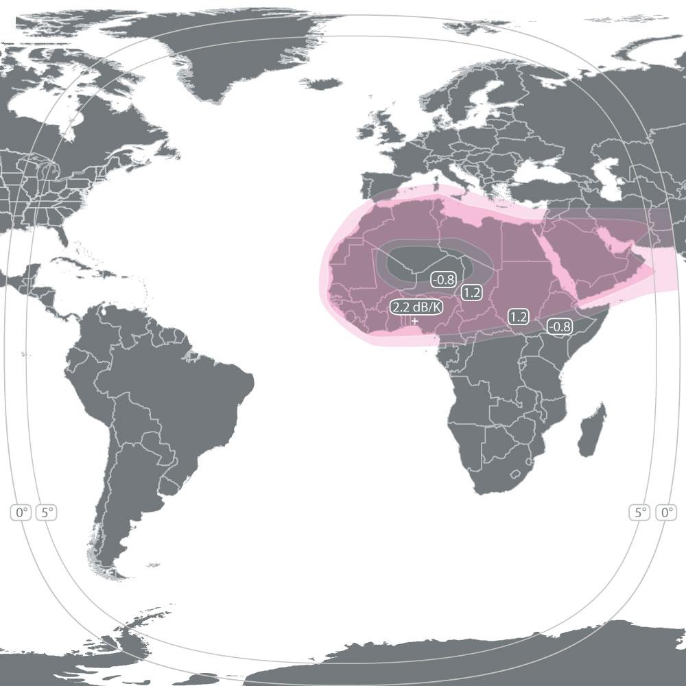 Express AM8 (14°W) – Romantis Satellite Communications